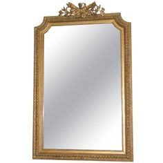 4k H 5 ft. 5 in. x W 3 ft. 5 in. x D 3 in.  French Napoleon III Wall Mirror | From a unique collection of antique and modern Wall Mirrors at https://www.1stdibs.com/furniture/mirrors/wall-mirrors/.