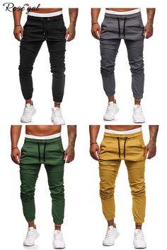 42% remise des pantalons de jogging pour homme  Rosegal  mode 7b5e36cb757