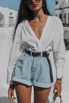 75 Fashionable Summer Outfits Ideas For 2019 Cute Casual Outfits, Retro Outfits, Stylish Outfits, Grunge Outfits, Simple Outfits, Short Outfits, Short Dresses, Street Style Outfits, Mode Outfits
