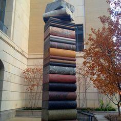 Granite sculpture outside the Nashville, TN Public Library. Nashville Public Library, Sculpture Art, Sculptures, Ending Story, Outdoor Art, Claude Monet, Granite, Street Art, The Outsiders