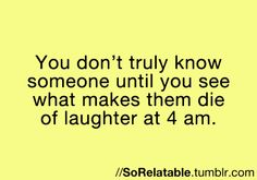 Yes.<--Conversations get deep after midnight. It's like  11:59 'OMG this cake is delicious'   12:01 'I killed a man once'