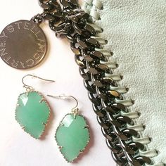 Kendra Scott Corley Drop Earrings in Chalcedony *3x Host Pick* Authentic. Never used. Made at the color bar. Gold hardware. Chalcedony stones. Dust bag included. Kendra Scott Jewelry Earrings