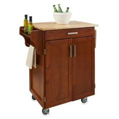 Home Styles Cuisine Wood Top Kitchen Cart - BedBathandBeyond.com