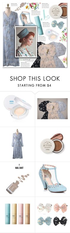 """Floral chiffon date"" by pankh ❤ liked on Polyvore featuring Chlo.D.Manon, The Face Shop and vintage"