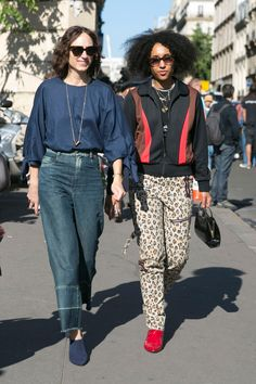 Here is further proof, via street style, that there are almost infinite ways to wear zebra stripes and leopard spots.