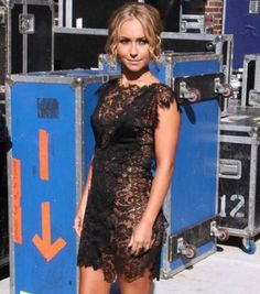 Hayden Panettiere Black lace dress.
