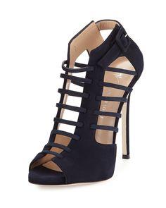 Giuseppe Zanotti Nude & Black Perforated Ella Cale Ankle Boots NkiWcxOT