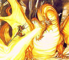 Final Fantasy - Dragon Knight | Yoshitaka Amano