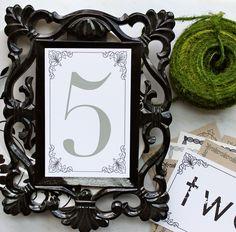 Rustic Modern & Vintage Wedding Table Numbers 5 x 7 by BeaconLane