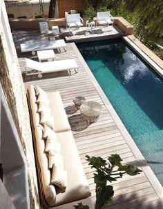 Le couloir de nage, la super piscine des jardins en longueur - Elle Décoration