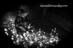 Turn your flash off and take some pictures with lights.  Children are mesmerized by them, and you will surely get a beautiful shot or two!   #HarvardHomemaker
