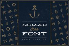 Nomad Icon Font ($5 OFF) by SEAN Co. on Creative Market