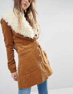 Image 3 ofFree People Lade Lane Faux Fur Collar Jacket