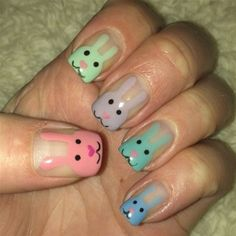 Get ready for spring (next year!), Easter and Passover with these easy DIY nail art designs.