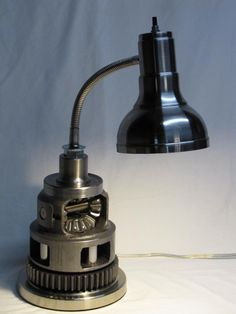 .Awesome lamp made from car parts