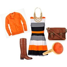 Love this.... Orange, created by #talentlesstwit on #polyvore. #fashion #style J.Crew Ralph Lauren