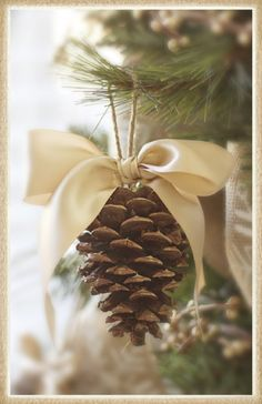 DIY....Pinecone Christmas Ornament