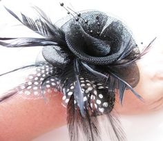 resv for morganh427 Black Feather rhinestone by weddingswithflair