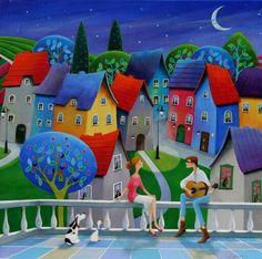 illustr.quenalbertini: Moonlight Sere-nate by Iwona Lifsches