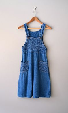 1970s denim dress / denim jumper dress / Chrissy dress. $58.00, via Etsy.