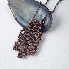 Brutalist pendant necklace Silver Brooch, Sterling Silver Earrings, Vintage Necklaces, Vintage Jewelry, Natural Stone Jewelry, Pearl Pendant Necklace, Brutalist, Contemporary Jewellery, Stud Earrings