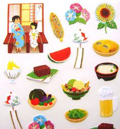 Products From Japan With Love: Cute Japanese Stickers Summer Festival by FromJapa...