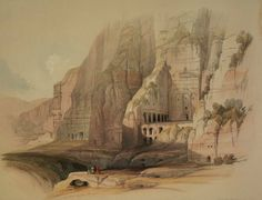 Convent of St. Katherine's with Mt. Horeb, David Roberts