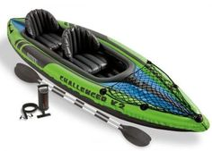 Intex Intex Challenger Inflatable Sporty Kayak + Oars and Pump at Lowe's. Happiness is paddling your kayak. Grab your Intex Challenger Inflatable Kayak With Oars And Pump and head to the water. Best Fishing Kayak, Kayak Camping, Bow Fishing, Fishing Pliers, Fishing Girls, Fishing Rods, 2 Person Kayak, Raft Boat, Kayak Boats