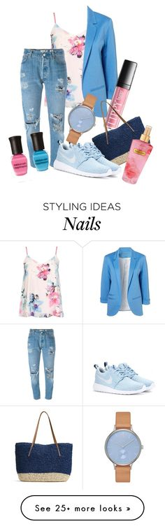 """""""Happy Eid"""" by asmaa-fathey on Polyvore featuring Dorothy Perkins, Levi's, G.H. Bass & Co., NIKE, Deborah Lippmann, Skagen and Victoria's Secret"""