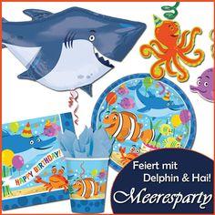 Party Deko für Kindergeburtstag Meeresparty