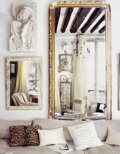 mirror with gilding
