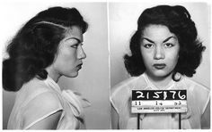 mugshot ,1953 *look at those bad girl eyebrows!*