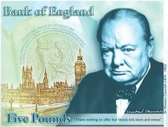 Sir Winston Churchill will feature on the new design of the 5 pound banknote which will enter circulation in 2016, the Bank of England has announced.