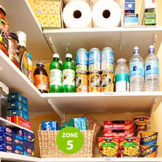 Organize Your Pantry by Zones - Zone 5: Lunch on the Run Store lunch items, utensils, napkins, and bags together to make packing easier. This arrangement also makes preparing weekend lunches a snap.