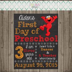 First Day of School Sign Last Day of School by punkydoodlekids School Signs, Photo Printer, Doodle Designs, Last Day Of School, School Photos, Going Back To School, One Day, Kid Names, Photo Props