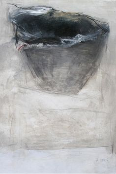 """Martine Trouïs, """"Momentanément Posé Là"""", huile sur toile"""