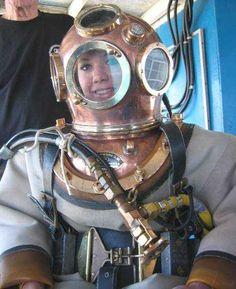 Navy Hard Hat Diver, Mark 5 Diving Helmet
