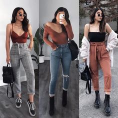 Casual Winter Outfits Ideas for 2019 Edgy Outfits, Winter Fashion Outfits, Simple Outfits, Look Fashion, Girl Outfits, Daily Fashion, Fashion Dresses, Winter Mode Outfits, Cute Fall Outfits