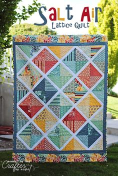 Mommy by day Crafter by night: Salt Air Lattice Quilt (my fabric choices for latest quilt)