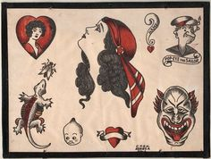 house bill moore tattoo flash series a on etsy percy waters tattoo ...