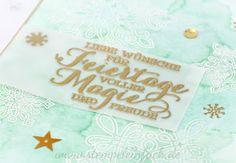 Weihnachtskarte mit Stampin up - Schneeflocken, Zauber