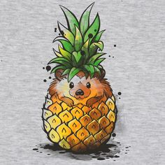 Pineapple Hedgehog is sold by Pampling for plus shipping. Day of the Shirt collects daily and weekly t-shirt sales from across the Internet and aggregates them all in one place. Updated every hour, refreshed every day. Pineapple Drawing, Pineapple Art, Pineapple Tattoo, Hedgehog Art, Cute Hedgehog, Hedgehog Tattoo, Hedgehog Drawing, Hedgehog Illustration, Comics