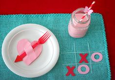 Para una mesa San Valentín / For a St. Valentine's Day table