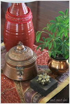 Copper betel nut box (Image; Sruthi Singh), eclectic decor, Indian decor, brass, antiques
