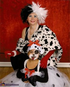 101 Dalmatians and Cruella DeVille - Halloween Costume Contest via @costumeworks