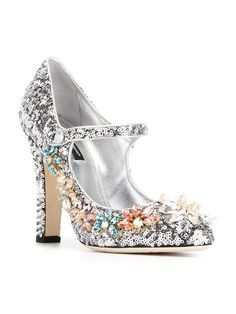 sequinned Mary Jane pumps