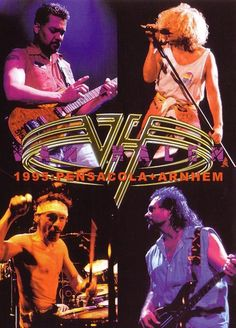 Eddie and Alex Van Halen, Sammy Hagar and Michael Anthony Van Halen 2, Van Halen 5150, Alex Van Halen, Eddie Van Halen, Van Hagar, Red Rocker, Rock Posters, Music Posters, Sammy Hagar