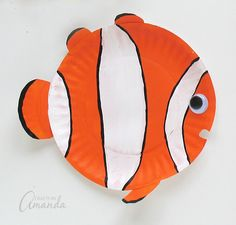 Paper Plate Tropical Fish Clown fish