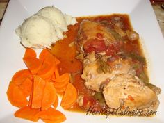 Voici ma délicieuse recette de poulet chasseur avec tomates, poivrons et champignons.