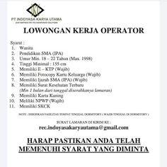 Lowongan Kerja Batam PT. Indoyasa Karya Utama (4/12/2020) Batam